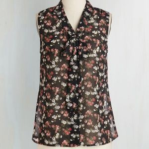 Vintage Inspired Plus Size Floral Sleeveless Top